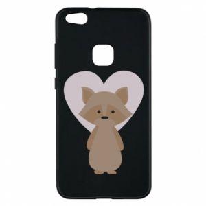 Etui na Huawei P10 Lite Raccoon with heart
