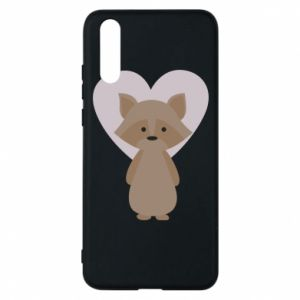 Etui na Huawei P20 Raccoon with heart