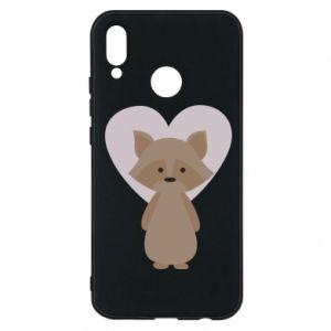 Etui na Huawei P20 Lite Raccoon with heart