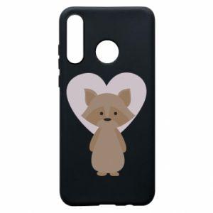 Etui na Huawei P30 Lite Raccoon with heart