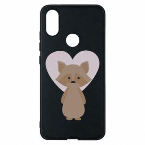 Etui na Xiaomi Mi A2 Raccoon with heart