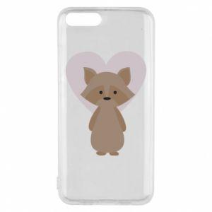 Etui na Xiaomi Mi6 Raccoon with heart