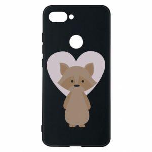 Etui na Xiaomi Mi8 Lite Raccoon with heart
