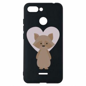 Etui na Xiaomi Redmi 6 Raccoon with heart