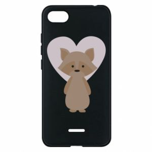 Etui na Xiaomi Redmi 6A Raccoon with heart