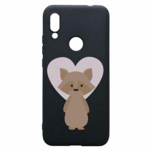 Etui na Xiaomi Redmi 7 Raccoon with heart