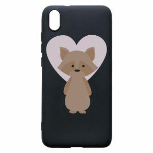 Etui na Xiaomi Redmi 7A Raccoon with heart