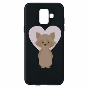 Etui na Samsung A6 2018 Raccoon with heart