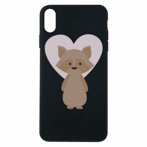 Etui na iPhone Xs Max Raccoon with heart