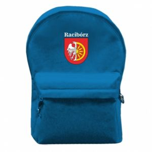 Backpack with front pocket Raciborz, emblem