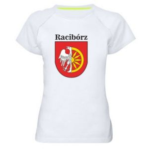Women's sports t-shirt Raciborz, emblem