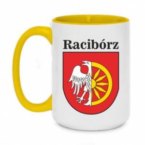 Two-toned mug 450ml Raciborz, emblem