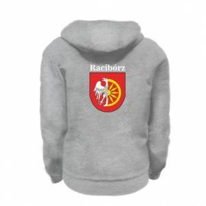Kid's zipped hoodie % print% Raciborz, emblem