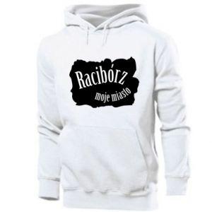 Men's hoodie Inscription - Raciborz my city