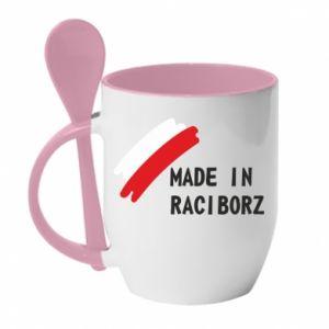 Kubek z ceramiczną łyżeczką Made in Raciborz