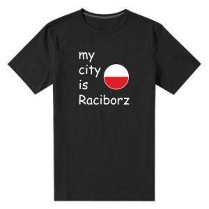 Męska premium koszulka My city is Raciborz