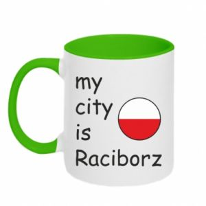 Kubek dwukolorowy My city is Raciborz