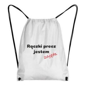 Plecak-worek Rączki precz jestem zajęta