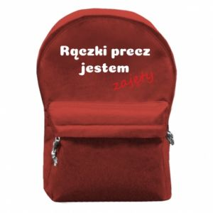 Backpack with front pocket I'm not free... - PrintSalon
