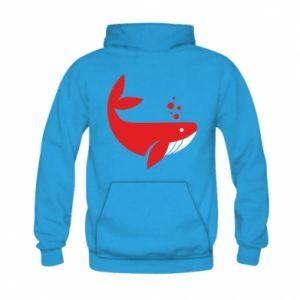 Bluza z kapturem dziecięca Rad whale