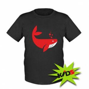 Kids T-shirt Rad whale