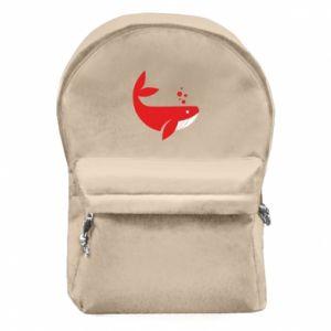 Plecak z przednią kieszenią Rad whale