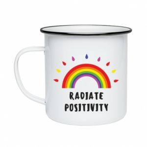 Enameled mug Radiate positivity