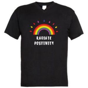 Męska koszulka V-neck Radiate positivity