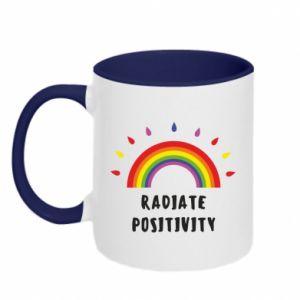 Kubek dwukolorowy Radiate positivity