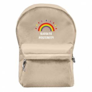 Backpack with front pocket Radiate positivity