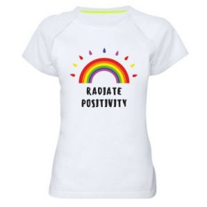 Women's sports t-shirt Radiate positivity