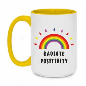 Two-toned mug 450ml Radiate positivity
