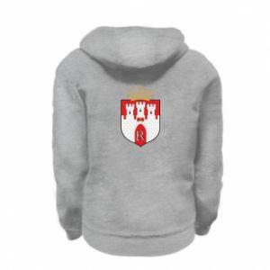 Kid's zipped hoodie % print% Radom coat of arms