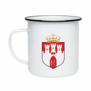 Enameled mug Radom coat of arms