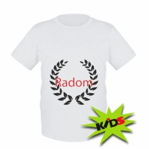 Dziecięcy T-shirt Radom orzeł w liściach
