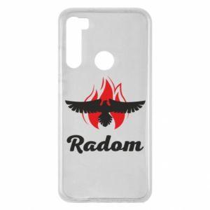 Xiaomi Redmi Note 8 Case Radom the eagle on fire
