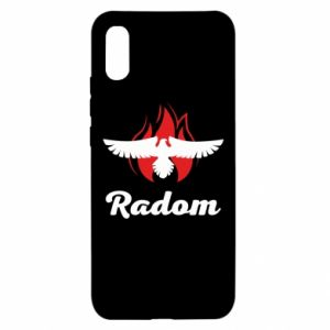 Xiaomi Redmi 9a Case Radom the eagle on fire