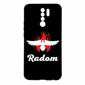 Xiaomi Redmi 9 Case Radom the eagle on fire