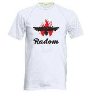 Koszulka sportowa męska Radom orzeł w ogniu