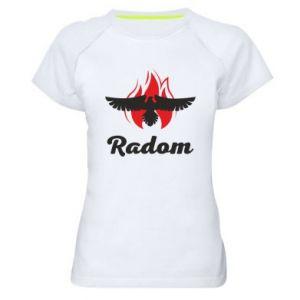 Koszulka sportowa damska Radom orzeł w ogniu