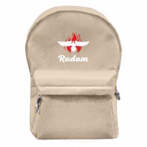 Plecak z przednią kieszenią Radom orzeł w ogniu
