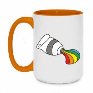 Kubek dwukolorowy 450ml Rainbow colors
