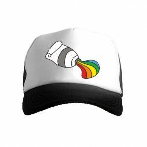 Czapka trucker dziecięca Rainbow colors