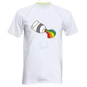 Męska koszulka sportowa Rainbow colors