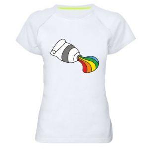Damska koszulka sportowa Rainbow colors