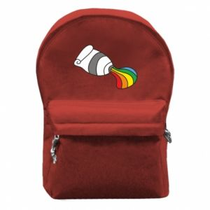Backpack with front pocket Rainbow colors - PrintSalon
