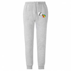 Męskie spodnie lekkie Rainbow colors