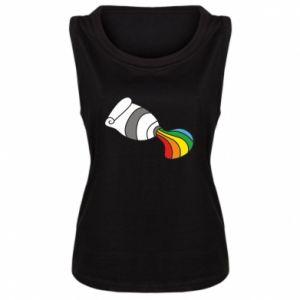 Damska koszulka bez rękawów Rainbow colors