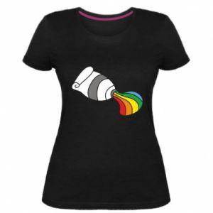 Damska premium koszulka Rainbow colors