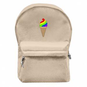 Plecak z przednią kieszenią Rainbow Ice Cream
